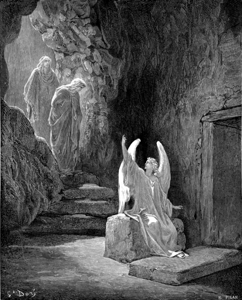 Angel at the Door of the Sepulchre, Gustave Doré,  1872-76