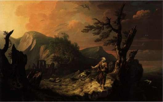The Bard, 1774, by Welsh artist Thomas Jones