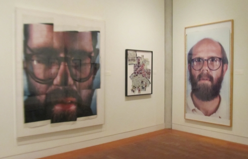 Self Portrait in Nine Parts, (Left) Chuck Close 1979. Exhibit: Frances Lehman Loeb Art Center -- The Polaroid Years: Instant Photography and Experimentation